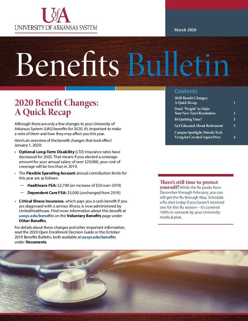 March 2020 Benefits Bulletin